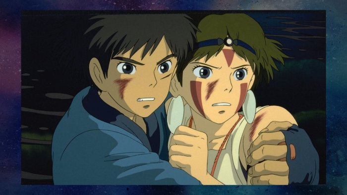 Ashitaka and San in Princess Mononoke